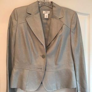 Ann Taylor Loft Pale Gray Pant Suit